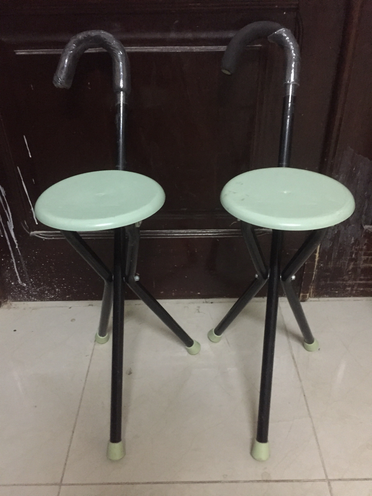 2 chairs+sticks for sale