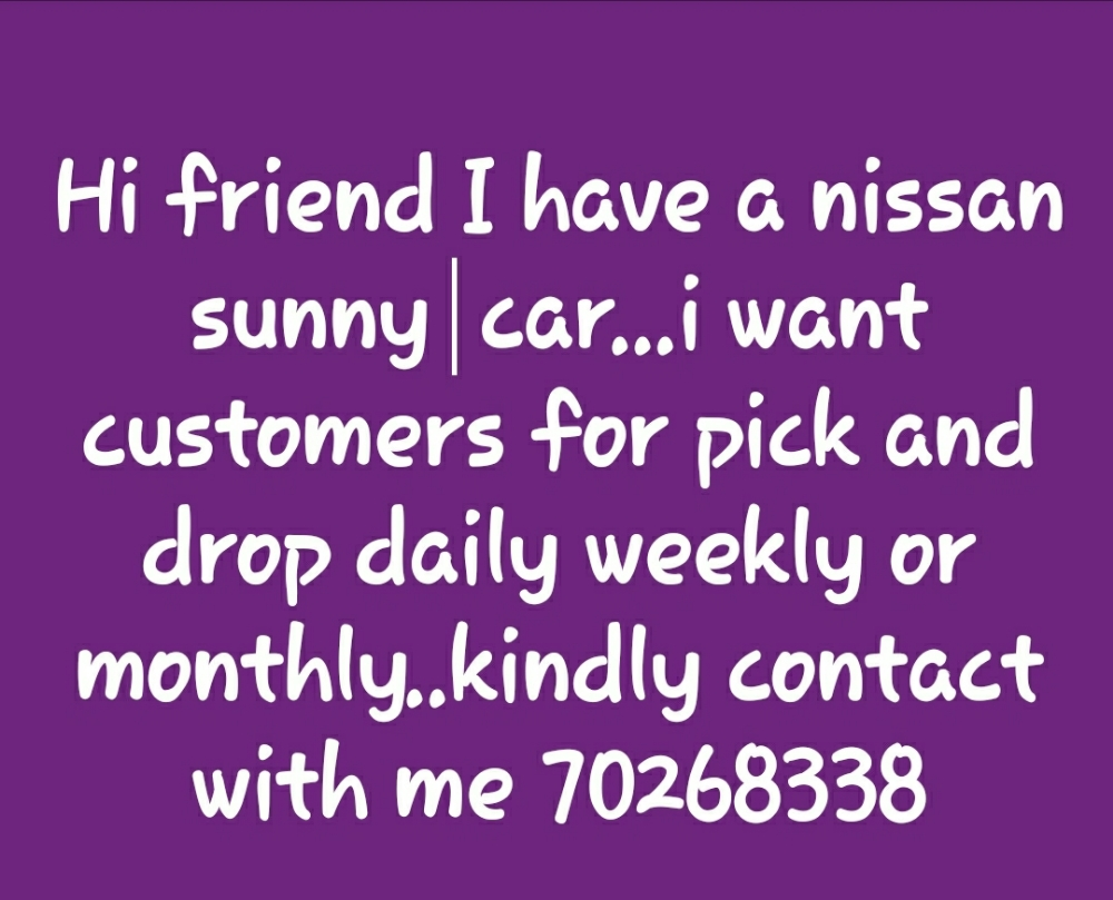 pick and drop service available...