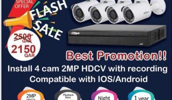 best promotion!! install 4 cam 2MP HDCVI