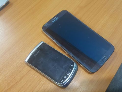 Samsung Mega and Black berrery