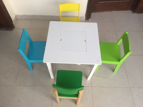 4 chair+table
