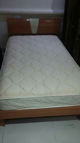 single bed with mattress ..