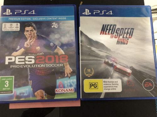 Pes 2018 and  need for speed