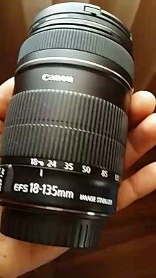 Canon 18-135mm Lens+ Filter +Hood