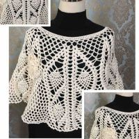Crochet lacy top