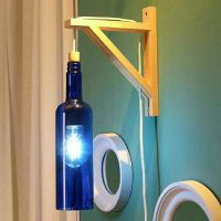 2 Wall Sconce - Recycled Bottle Light!