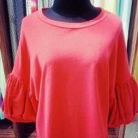 Orange Sleeve blouse