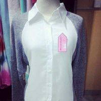 white gray color blouse