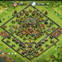 clash of clans base town 10