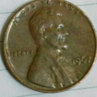 one cent coin of US of 1967