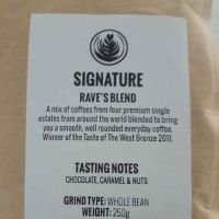 Rave whole roasted coffee beans