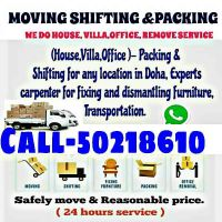 Moving/Shifting and Packeing :- 50218610