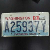 USA/Washington Car Plate