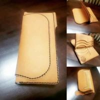 100% pure leather wallet for women