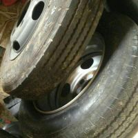 Toyota coaster tyre with rim sale