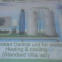 central unit for water heating & coolig