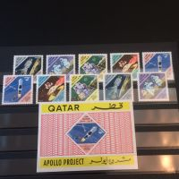 Qatar apollo stamp