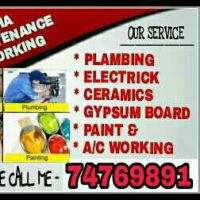 All maintenace working service.Plumbing,