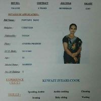 Indian cv  with cooking experience