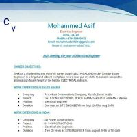 looking for electrical Engineer vacancie