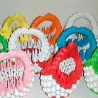 Handcraft paper art, small basket
