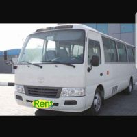 Toyota coaster bus for rent 30 petrol
