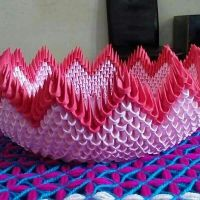 Handcraft paper basket