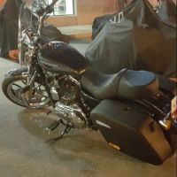 windshield and saddle bags for sportster