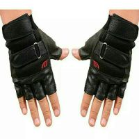 Half Finger Leather Gloves