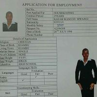 kenyan maid with experience