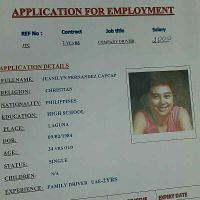 company Lady driver from Philippine.