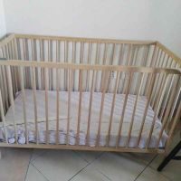 ikea baby cot with mattress and bumper