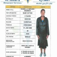 kenya maid Christian and experience