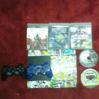 PS3 AND 2 CONROLLER AND 5 GAMES