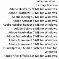 Required computer software older Adobe M