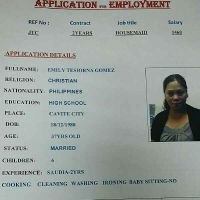 Filipino housemaid with experience