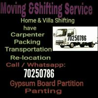 moving shifting paking carpentry labour