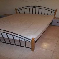 bed with 2 side cupboard for sale