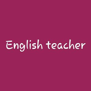 English teacher american accent