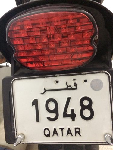 Motor cycle number