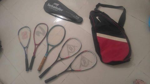 squash tannis racket with bags