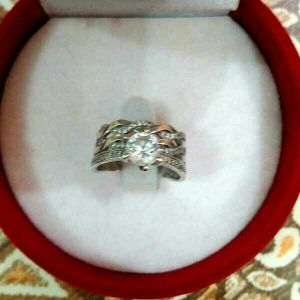 silver original ring for married