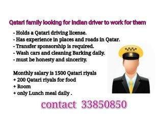 Qatari family looking for indian driver