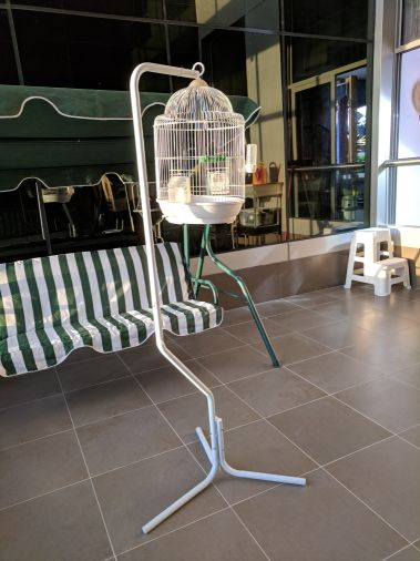 cage for small birds with stand
