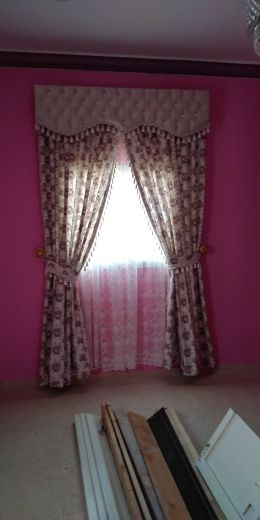 curtains. cloth. and furniture