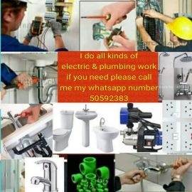 I do all kinds of electric & plumbing wo