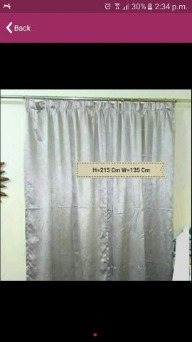 2 Pcs Curtains With Sticks