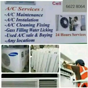 a/c Services and Removing & Fixing