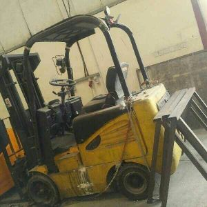 Damaged forklift