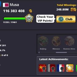 8 Ball Pool special account